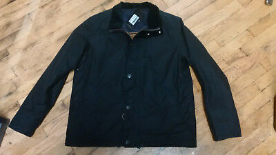 Barbour Land Rover Defender Gillingham Jacket Black Waxed Cotton Men's M