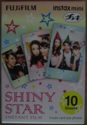 Instax Mini film NEW Shiny Star; 10 sheets; expiration date July 2018; 1 pack