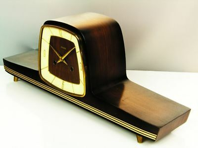 Beautiful Later Art Deco Design Chiming Mantel Clock From Hermle