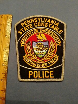 Pennsylvania State Constable patch police