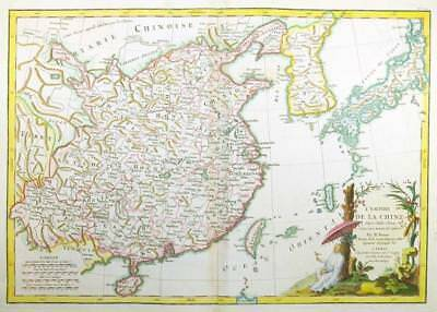 1762 - Original Antique Map of CHINA KOREA and the ISLANDS OF JAPAN FORMOSA
