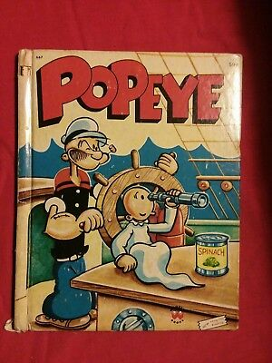 Lot Of 2Vintage Popeye Wonder Books 1 record and a plush Popeye doll