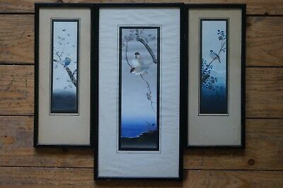 Three XIX/ early XX century Chinese watercolours, stamped and signed