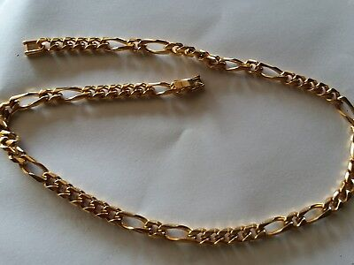 Vintage 14KGS Gold Shield  Necklace 18in 33.5 grams Gold Filled? Plated?