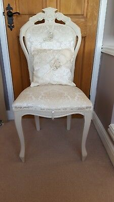 French Louis Style Ivory Shabby Chic Occasion Chair