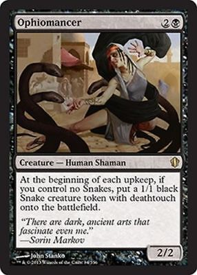1x OPHIOMANCER - Rare - Commander - MTG - NM - Magic the Gathering