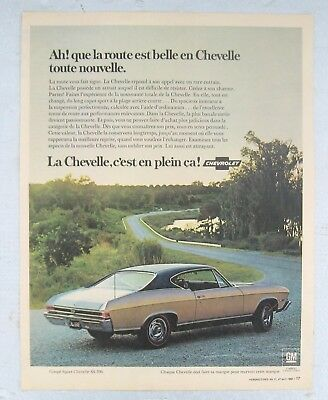 ad french newspaper COUPÉ SPORT CHEVELLE CHEVROLET SS 396 1968 GM CANADA