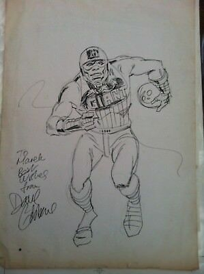 Dave Gibbons Harlem Heroes Original Comic Artwork  Sketch Signed (circa 1984)