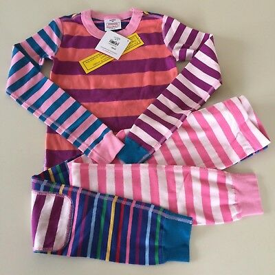 """HANNA ANDERSSON Awesome Girl's """"STRIPED"""" Cotton Pajama Set, 7-8 years,130 cm NEW"""