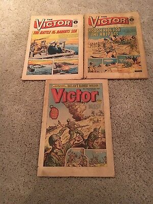 The Victor Comics vintage 1972 and 1987 no's 582 585 and 1362