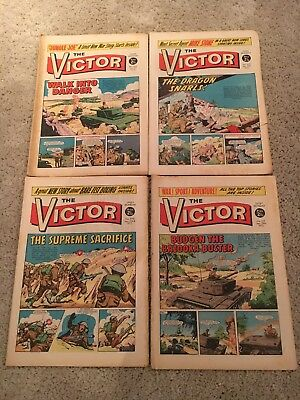 The Victor Comics vintage 1972  no's 568 569 570 and 571