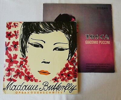 2 Lps, 2 Lp-Boxen/Puccini/Madame Butterfly, Tosca