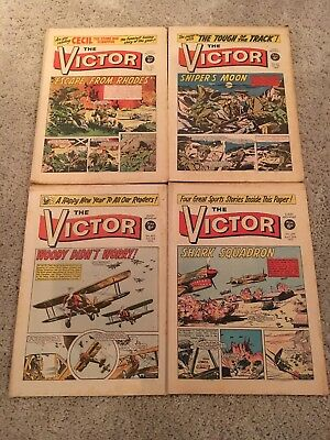The Victor Comics vintage 1969/1970 no's 451 452 463 and 479