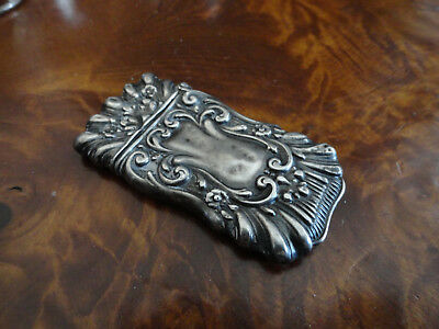 Old victorian sterling silver match safe art nouveau COOL!