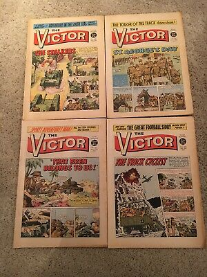 The Victor Comics vintage 1971/1972 no's 564 565 566 and 567