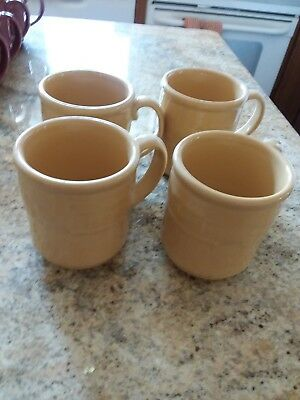 Longaberger Gols Pottery Cups, Set of 4, New not in box
