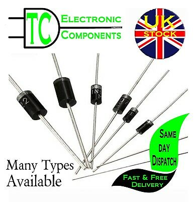Diodes, Rectifier, Schottky, Barrier, Switching. Many Types Available UK SELLER