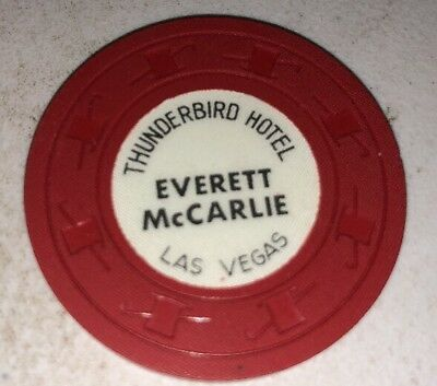 Thunderbird Hotel Everett McCarlie $1 Casino Chip Las Vegas Nevada 2.99 Shipping