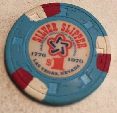 Silver Slipper $1 Casino Chip Las Vegas Nevada 2.99 Shipping