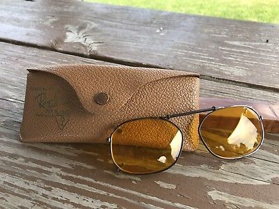 Vintage Ray-Ban Bausch & Lomb Clip On 1950s Rare Sunglasses Shooting