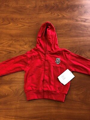 NWT Wisconsin Badgers 18 Month Infant Snap Hoodie Officially Licensed NCAA