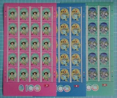 Malaysia 2016 - Girl Guides 100th Anniversary - Complete Sheets SG 2184/86