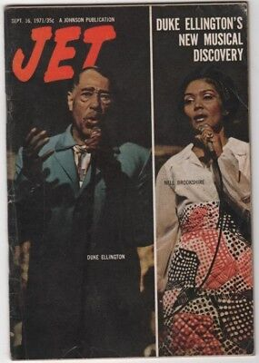 Jet Magazine - 1971 - Duke Ellington. Nell Brookshire - Black Americana