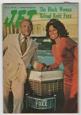 Jet Magazine - 1973- The Black Woman Behind Redd Foxx - Black Americana