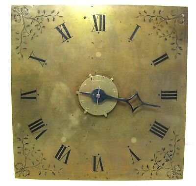 "Longcase / Hooded Wall Clock Movement - Brass 10"" Dial with Alarm - Circa 1780."
