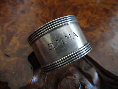 Sterling SIlver old napkin ring round old