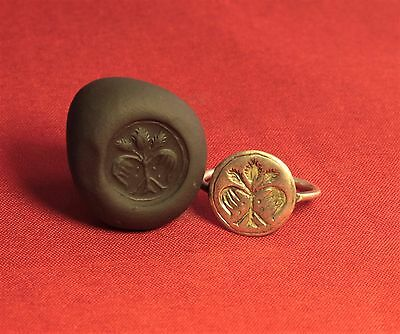 Medieval Knight's Silver Seal Ring - 13. Century