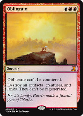 1x FOIL OBLITERATE - Rare - From The Vaults - MTG NM Magic The Gathering