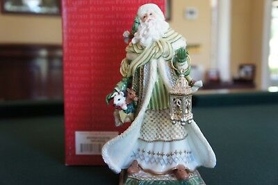 Rare 2003 Fitz & Floyd Holiday Gregorian Musical Santa Tune Silent Night