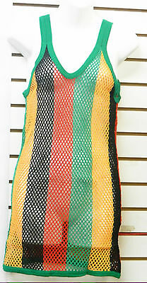 Sleeveless Rasta Mesh Shirt