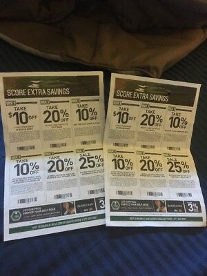 Dicks Sporting Goods In Store Golf Purchase Coupons $10 / 20% / 10% /25%