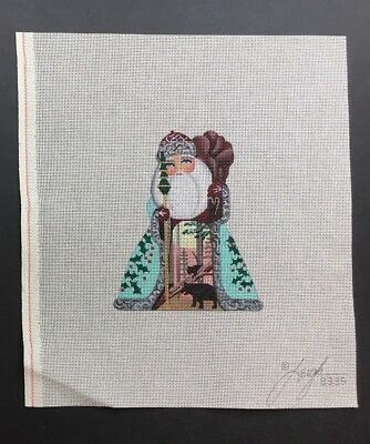 Leigh Designs Hand-painted Needlepoint Canvas Russian Santa