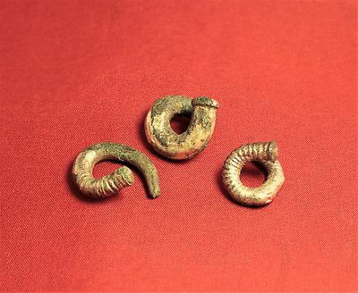 Lot of 3 Ancient Scythian Silver Plated Rings