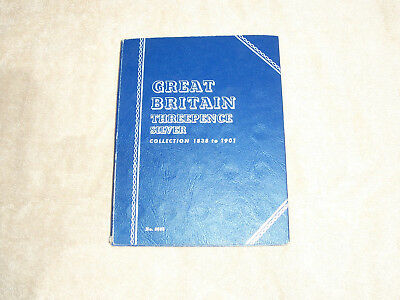 Whitman Folder for Great Britain 1902-1945, 3P with 19 Silver Coins