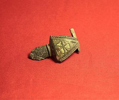 Fine Ancient Roman Enamelled Turtle Fibula or Brooch, 2. Century