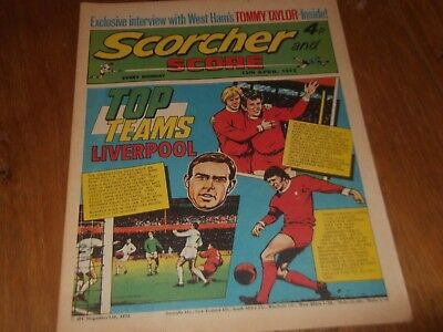 15/04/1972 Scorcher And Score Comic Liverpool Football Club Top Teams On Cover