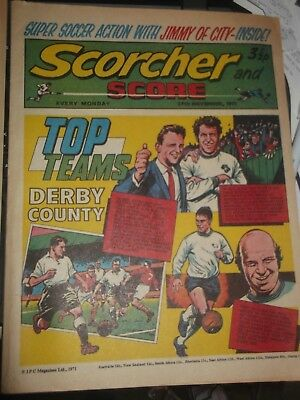 27/11/1971 Scorcher And Score Comic Derby County Brian Clough Top Teams On Cover
