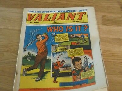 1971 Valiant Comic - Who Is It ? On Cover - Golfer Tony Jacklin