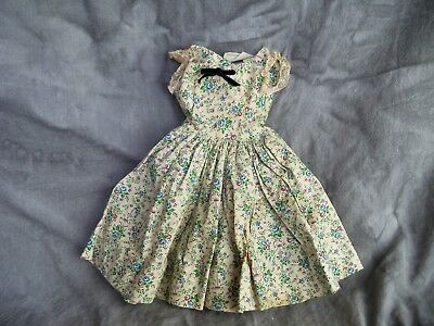 Vintage Madame Alexander CISSY DOLL Cotton Print Dress with Tag
