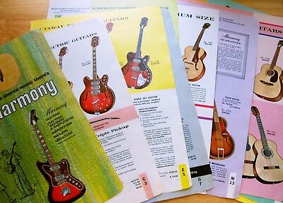 1965 Harmony Guitars Full Line 20pg from Targ and Dinner Catalog