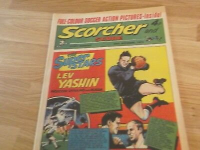 1972 Scorcher And Score Comic Lev Yashin Football Superstar On Cover