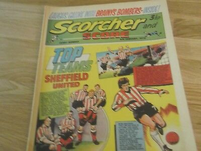 1972 Scorcher And Score Comic Sheffield United Football Club Top Teams On Cover