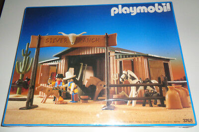 "Rare Playmobil System 3768 Western ""Silver Ranch"" NEU MISB SEALED NEW NEUF NUEVO"