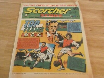 1972 Scorcher And Score Comic Arsenal Football Club Top Teams On Cover