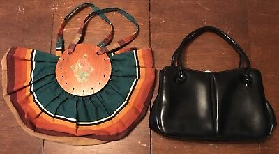 Vintage 1950s 1960s Lot Of Two 2 Purses