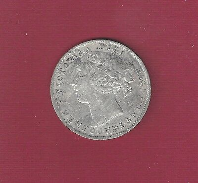 Newfoundland Canada 1896  20 cents  Small date  Silver